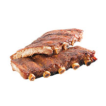Schweins-Spareribs in Vacuum gegart (barbecue)